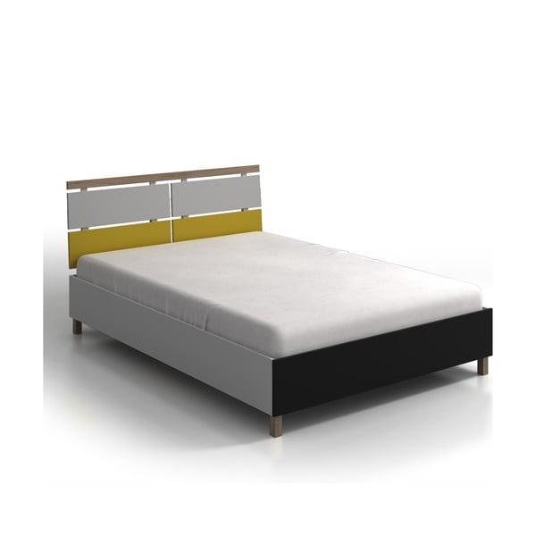 Jednolôžková posteľ z borovicového a bukového dreva s úložným priestorom SKANDICA Vaxholm, 120×200cm