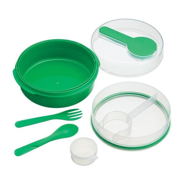 Zelený svačinový box KitchenCraft Coolmovers Round