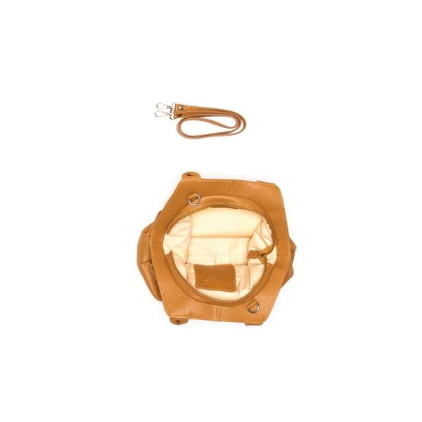 Kožená kabelka Renata Corsi 1076 Cognac
