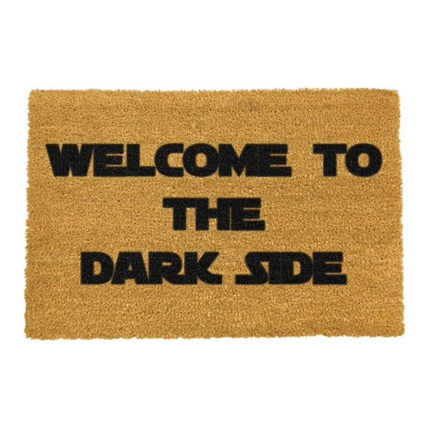 Covoraș intrare din fibre de cocos Artsy Doormats Welcome to the Darkside, 40 x 60 cm