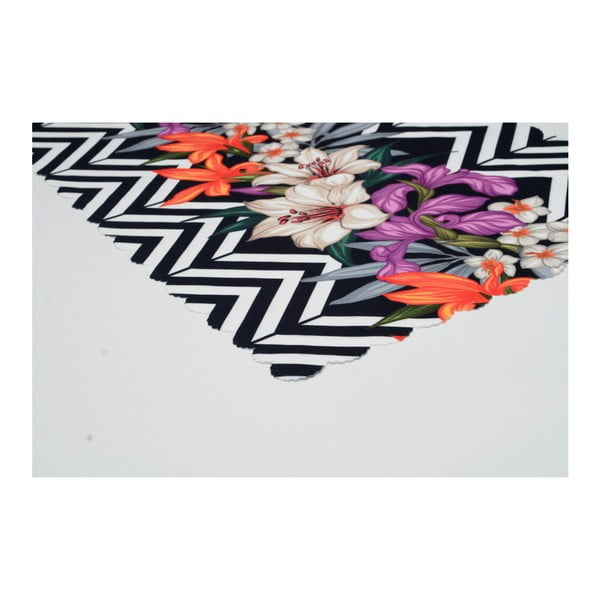 Běhoun na stůl z mikrovlákna Minimalist Cushion Covers Flower Stripes, 45x145cm