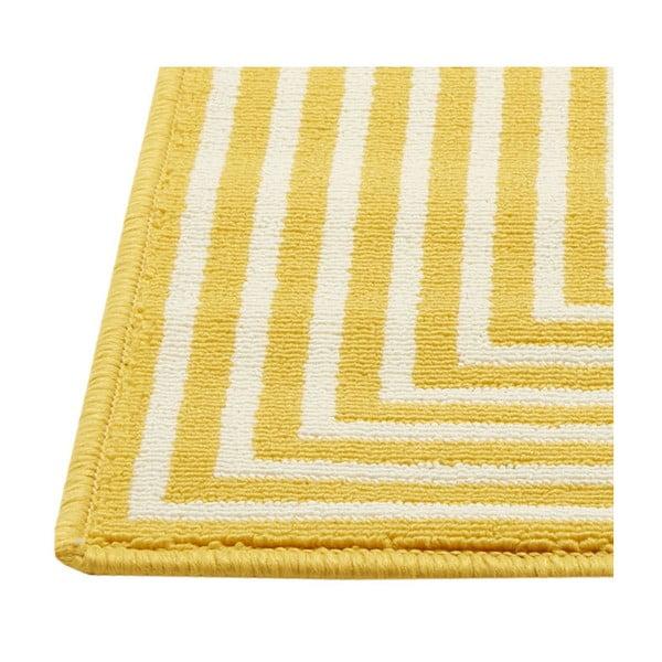 Žlutý vysoce odolný koberec vhodný do exteriéru Floorita Braid, 133x190cm