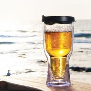 Nezničitelná sklenice na pivo Brew2Go, černá