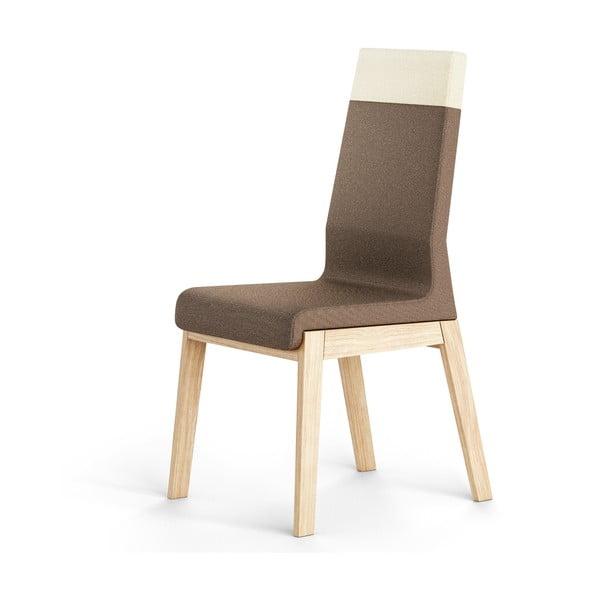 Hnědá židle z dubového dřeva Absynth Kyla Two