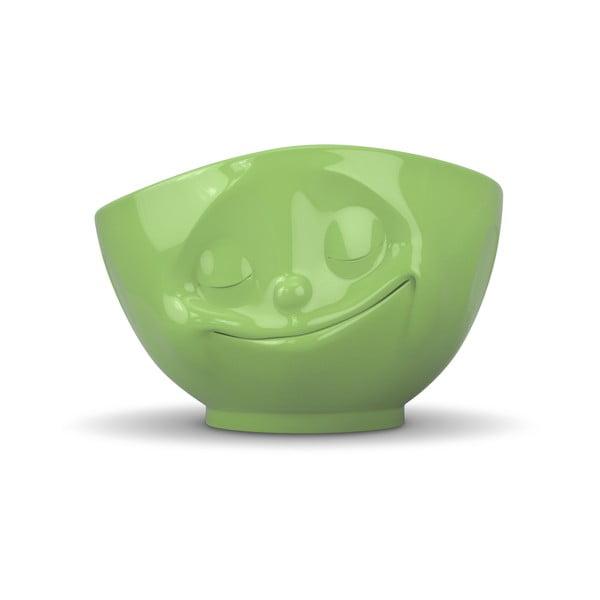 Bol porțelan cu față fericită 58products, verde