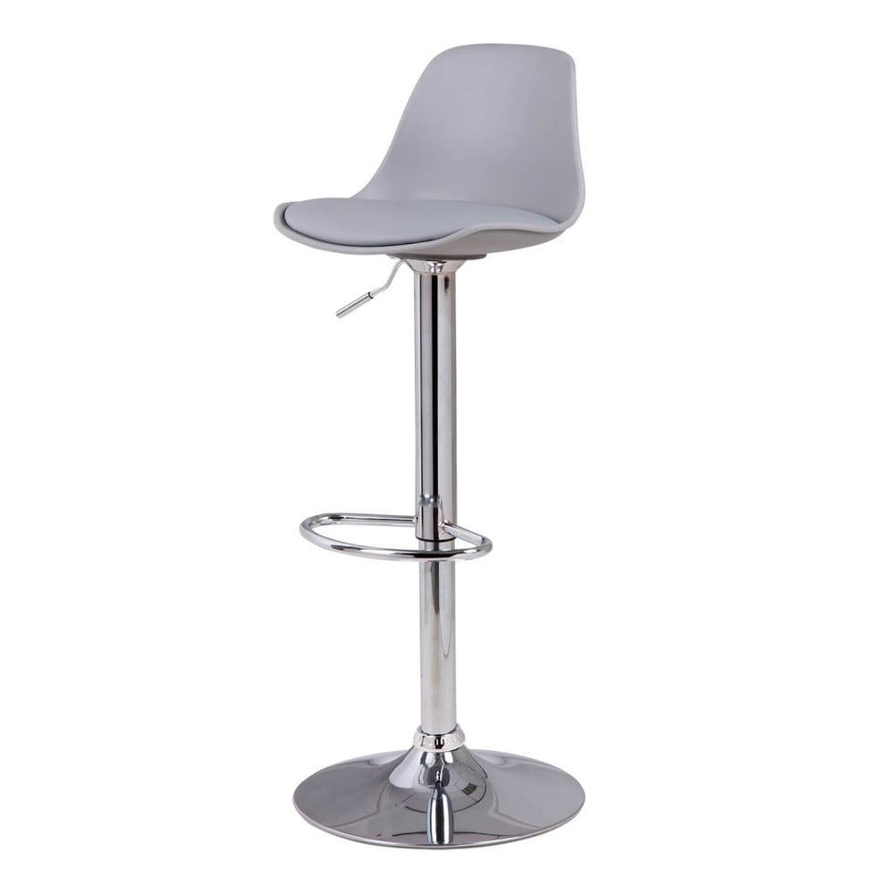 Šedá barová židle sømcasa Nelly, výška 104 cm