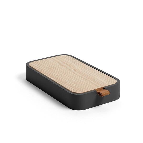 Černý úložný box z jasanového dřeva La Forma Mackie