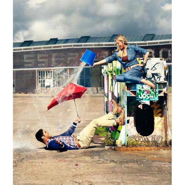 Skládací deštník Senz mini crazy camo, odolný vůči větru o rychlosti až 70 km/h