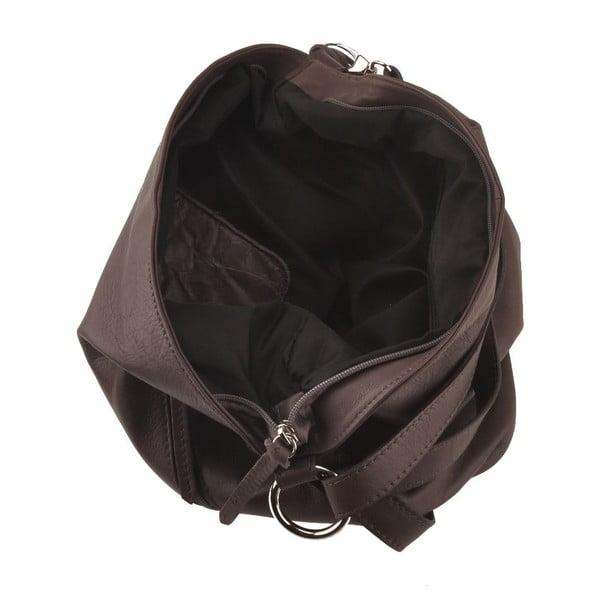 Kožená kabelka Dattero, tm. hnědá