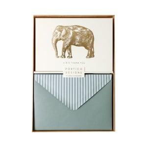 Set 10 felicitări cu plic Portico Designs FOIL Big Elephant