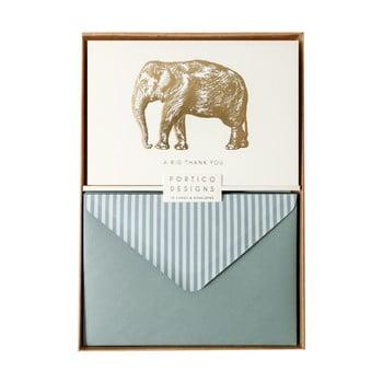 Set 10 felicitări cu plic Portico Designs FOIL Big Elephant imagine