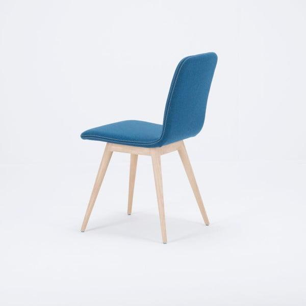 Scaun din lemn de stejar Gazzda Ena, albastru