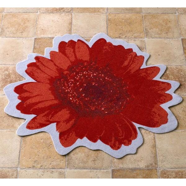 Koberec Special - červená květina, 100 cm