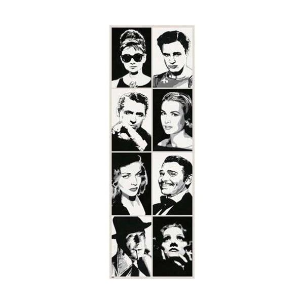 Plakát Hollywood Stars, 30x91 cm