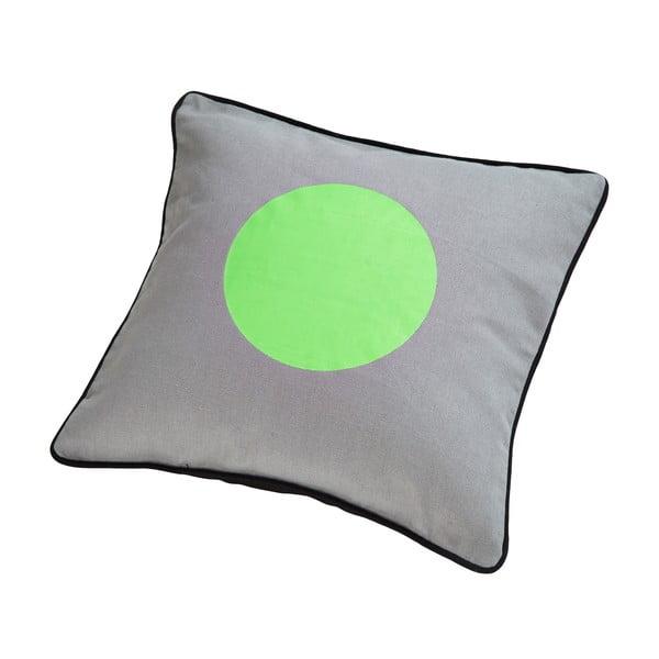 Polštář s kachním peřím Dot Grey/Green