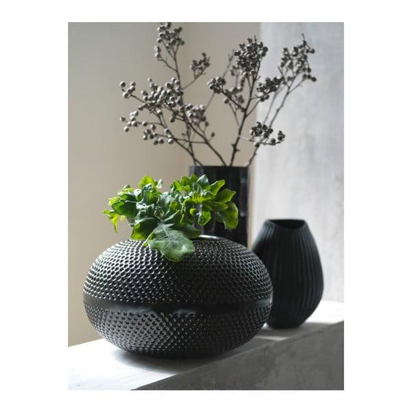 Vază Fuhrhome Oslo, Ø 15 cm, negru