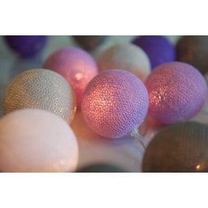 Șirag luminos Irislights Lavender, 20 beculețe