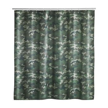 Perdea de baie lavabilă Wenko Camouflage, 180x200cm imagine