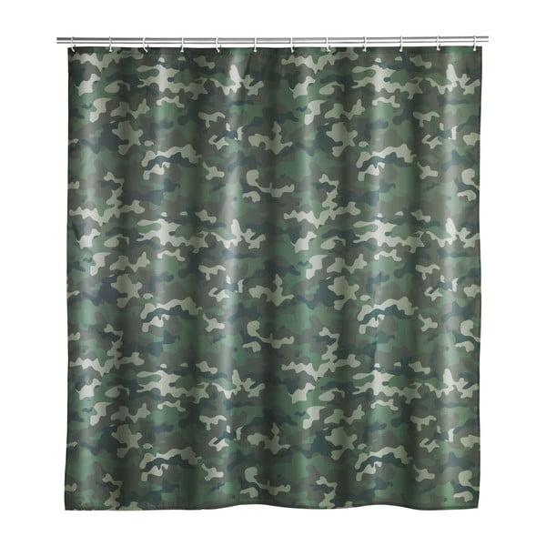 Pratelný sprchový závěs Wenko Camouflage, 180x200cm