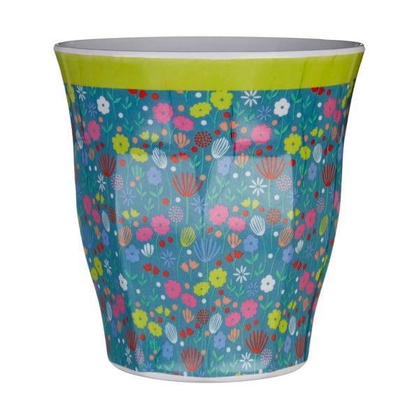 Modrý hrnek s motivem květin Premier Housewares Casey,300ml
