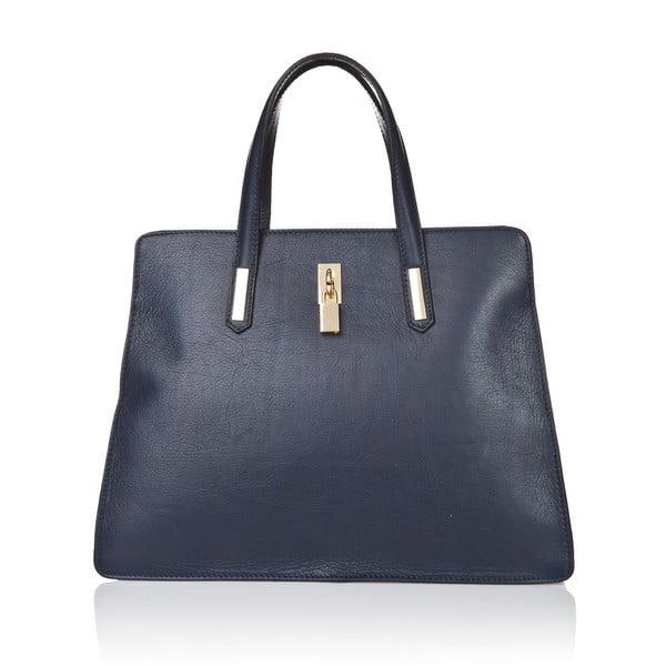 Modrá kožená kabelka Markese Tasia