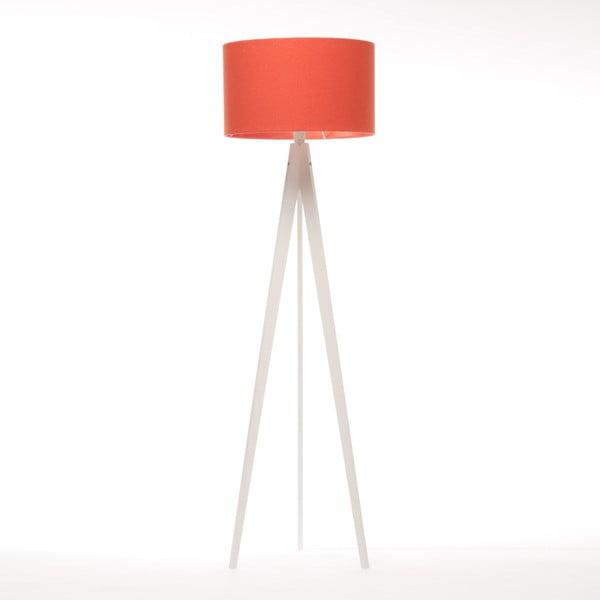 Červená stojací lampa Artist, bílá lakovaná bříza, 150 cm