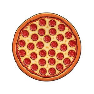 Pătură pentru plajă Big Mouth Inc. Pizza, Ø 152,4 cm