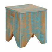 Tyrkysová úložná truhla z masivního borovicového dřeva Støraa Marilyn