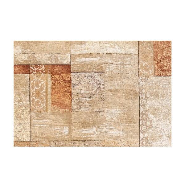 Vinylový koberec Patchwork Beige, 133x200 cm