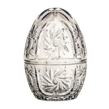 Recipient decorativ din sticlă în formă de ou Bloomingville, gri