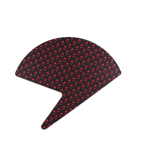 Červeno-černý papírový vějíř Calico