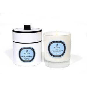 Lumânare parfumată Parks Candles London Aromatherapy, aromă de mușețel și ceai alb, 50 ore