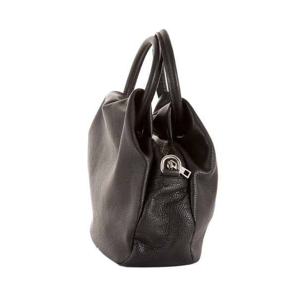 Černá kabelka z pravé kůže Andrea Cardone Dolcezza