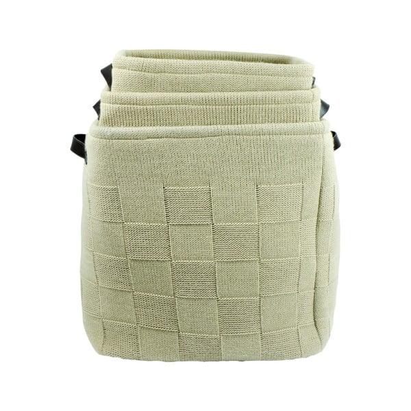 Set 3 coșuri tricotate de depozitare Furniteam Clean