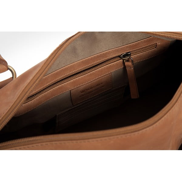 Kožená kabelka Valentini 422, hnědá