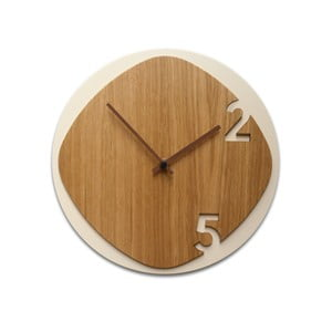Hodiny Clock25 Light Wood