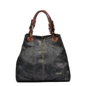 Černá kožená kabelka Luisa Vannini Grissmo