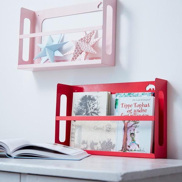 Police na knihy Deer, světle růžová