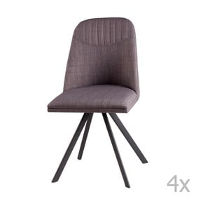 Sada 4 světle šedých otočných jídelních židlí sømcasa Cris