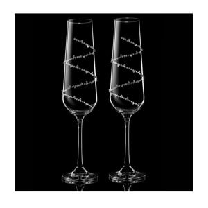 Sada 2 šampaňských fléten Tethys se Swarovski Elements v luxusním balení