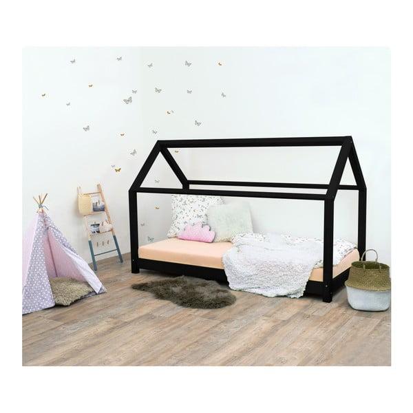 Černá dětská postel ze smrkového dřeva Benlemi Tery, 70x160cm