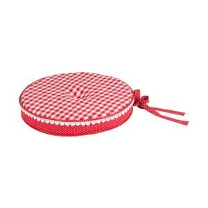 Kulatý podsedák Basic Hearts 40 cm, červený
