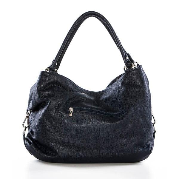 Tmavě modrá kožená kabelka Federica Bassi Sirina