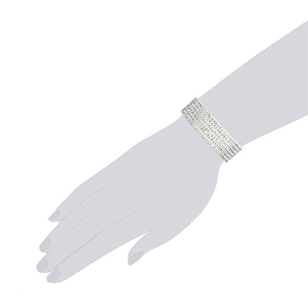 Náramek Simply White, 19 cm