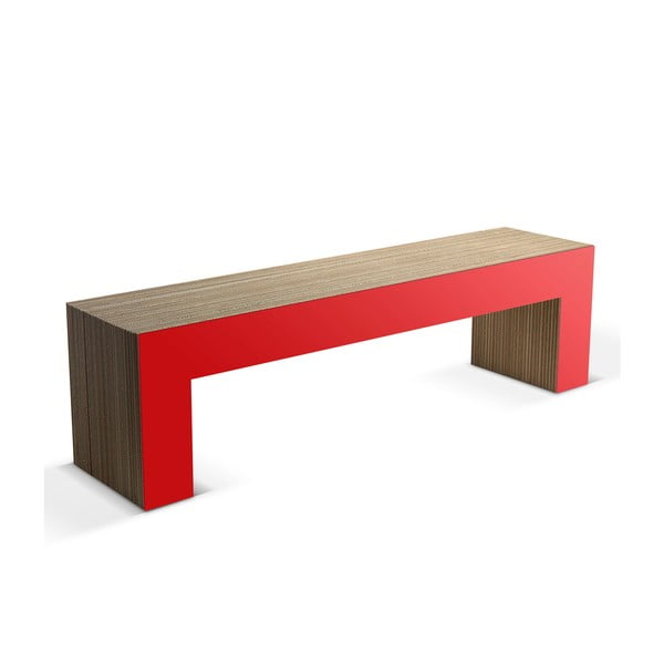 Kartonová lavice Panca Red, 160 cm