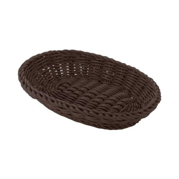 Košík Tischkorb Oval Brown, 21x15x8 cm