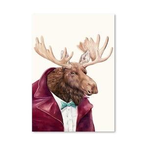 Plakát Moose, 30x42 cm