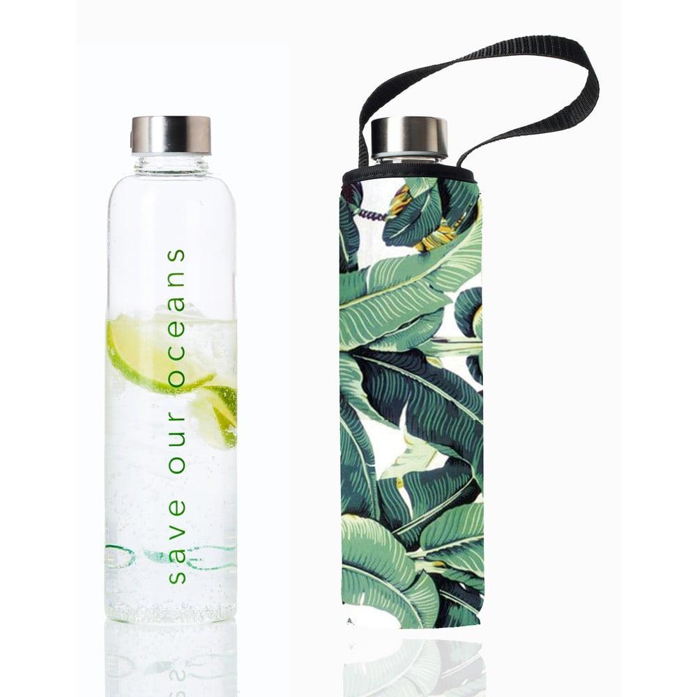 Cestovní lahev z borosilikátového skla s obalem BBBYO Banana Leaf, 750 ml