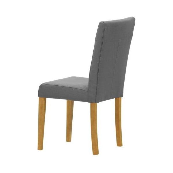 Sada 2 židlí Monako Etna Dark Grey, přírodní nohy