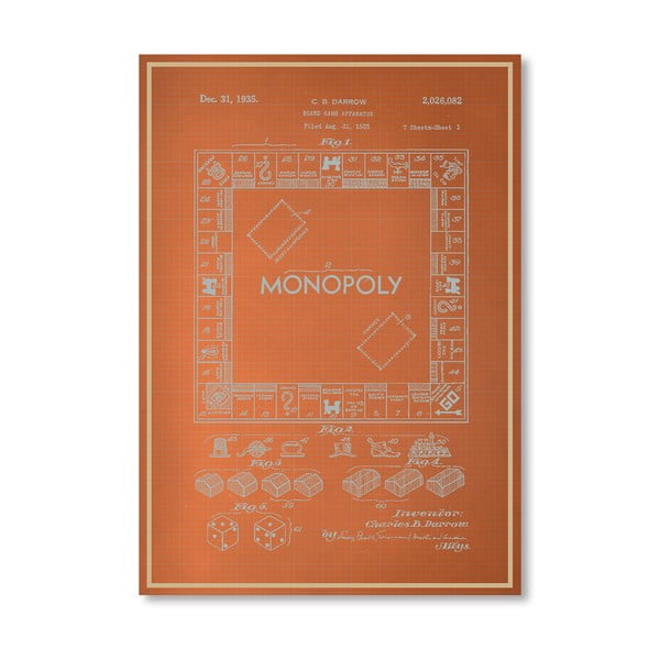 Plakát Darrow Monopoly, 30x42 cm